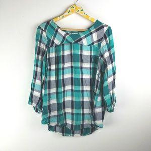 Cato Plaid Tunic Shirt sz 18 20 1X